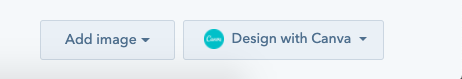 Design with Canva button