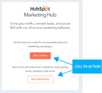 HubSpot Call to action