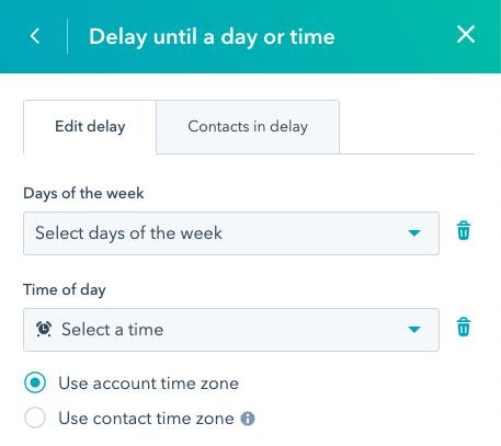 HubSpot Delay Until workflow možnosti