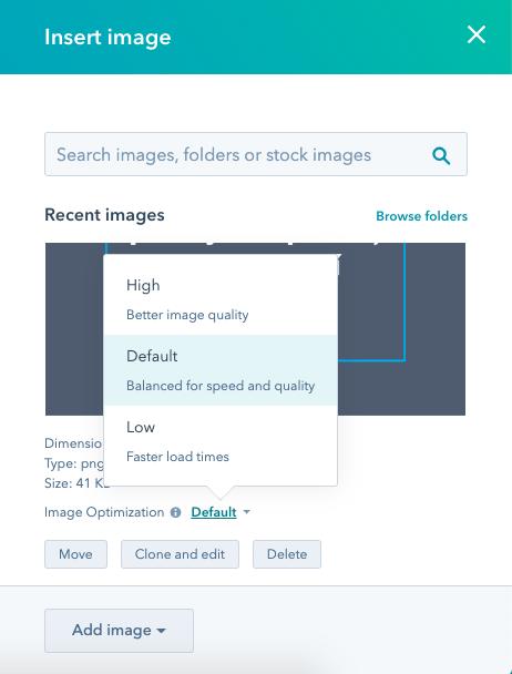 HubSpot Optimalizace obrázků
