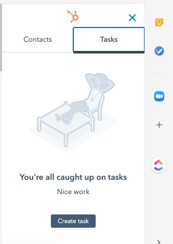 HubSpot Tasks v Gmailu