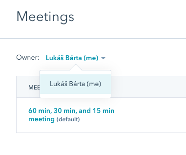 Úprava Meeting Linku v Hubspotu