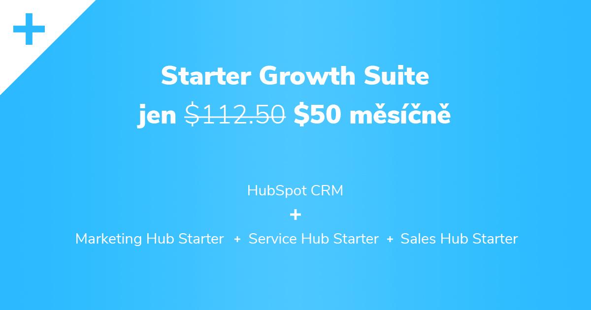 HubSpot Starter Growth Suite je nyní za akční cenu