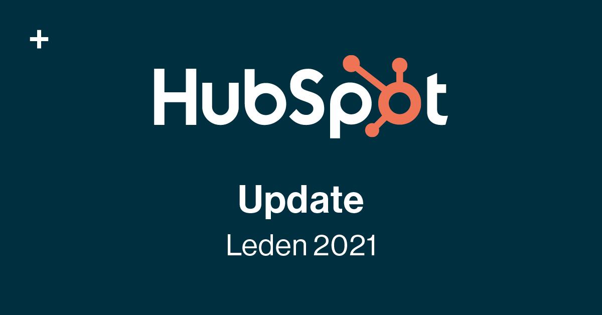 Novinky v HubSpotu - Leden 2021