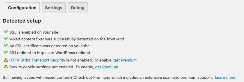 Wordpress HTTPS plugin potvrzení instalace