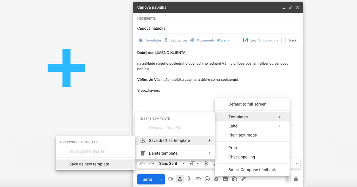 Jak používat emailové šablony v Gmailu